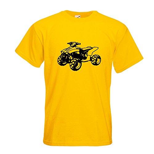KIWISTAR - Quad Motorbike T-Shirt in 15 verschiedenen Farben - Herren Funshirt bedruckt Design Sprüche Spruch Motive Oberteil Baumwolle Print Größe S M L XL XXL Gelb