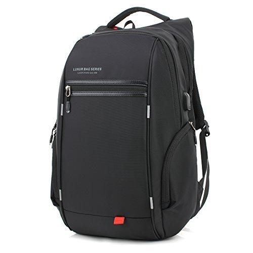 830caf76fcec Luxur 37L en nylon étanche Sac à dos pour ordinateur portable Casual école  voyages d'affaires Sac à dos Laptop Backpack Black