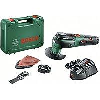 Bosch 0603103001 UniversalMulti 12 Outil multifonction sans fil technologie Syneon, 12 V, Vert