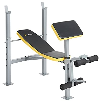 Gold Coast Adjustable Multi Weight Bench with Barbell Rack, Leg Curl & Removable Preacher Pad by Gold Coast
