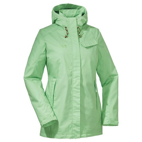 Jack Wolfskin Damen Mantel Maryport Coat Women, Soft Green, L, 1105011-4052004