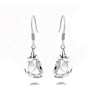 Arpoador 1Paar Luxus transparent Kristall Pea Form Ohrringe Ohrstecker Paar Ohrbügel