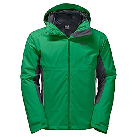 JACK WOLFSKIN Herren 3in1-Jacke NORTH BORDER, forest green, XXXL, 1107803-4082007