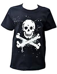 Red Dog Wear Kids 'Punk Pirate' Black Cotton T.Shirt