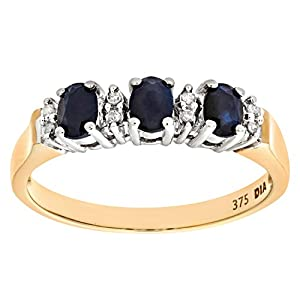 Naava Herren-Ring 9 Karat (375) Gelbgold 16 Diamanten PR6491SA R-p