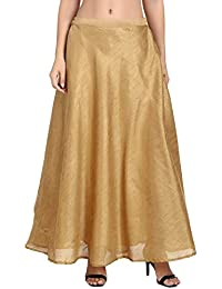 77d1ebdc1 Shararat Women's Long Indo Western Traditional Skirt (Free Size: stretch  from 28 to 36