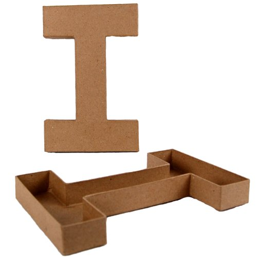 country-love-crafts-825-inch-205cm-letter-i-shaped-box-papier-mache