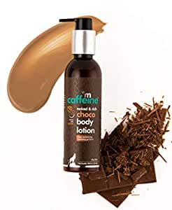 MCaffeine Naked and Rich Choco Body Lotion   Deep Moisturization   Cocoa, Caramel   Dry Skin   Paraben and Mineral Oil-Free for all skin types   200 ml