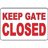 Dozili Metallschild Keep Gate Closed 12