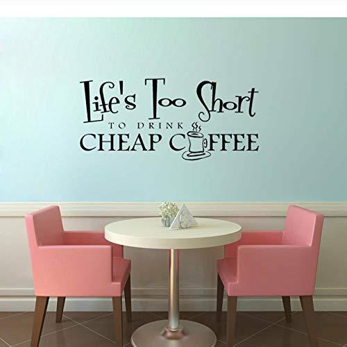 chtes Tapeten Schlafzimmer 55Cm * 25Cm Das Leben Ist Zu Kurz, Um Billigen Kaffee Für Wohnzimmer-Aufkleber Pvc-Wand-Dekor Zu Trinken ()