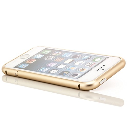Saxonia Aluminium Bumper + 2x Panzerglas Apple iPhone SE 5 5S Slim Alu Case Schutz Hülle Rahmen Silber Gold