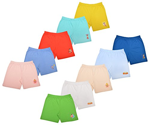 Luke and Lilly Cotton Shorts,Bottom for Baby boy and Baby girls - Pack of 10