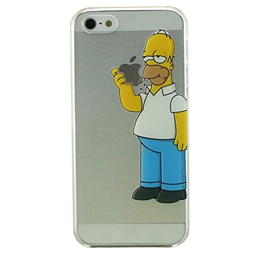 Sufs Coque transparente Disney pour Apple iPhone avec accessoire Sufs, H0mer, iPhone 5/5S