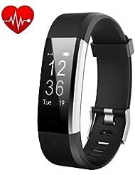 Fitness Tracker,Orologio Fitness Activity Tracker Cardiofrequenzimetro Impermeabile IP67 Contapassi Smartband Bracciale Braccialetto Pedometro da Polso GPS Smart Watch per Uomo Donna per Android e iOS Smartphone(Nero) - iPosible