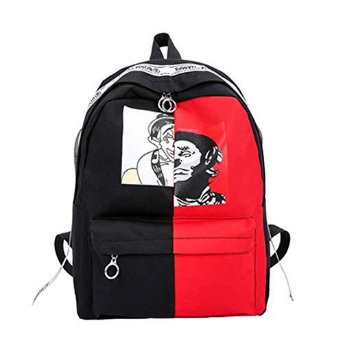 Xxam Rucksack Damen Herren Studenten Backpack Graffiti Drucken Clown Verschleißfest Reisetasche Für Schule Reisen Freizeit Job Mit Laptopfach,01 - Clown Drucken