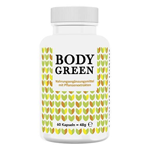 Bodygreen - Natürlicher Thermogener Fatburner zum Abnehmen, wissenschaftliche Naturformel, Körperfett verbrennen und Muskeln unterstützen, Made in Germany, 60 Kapseln
