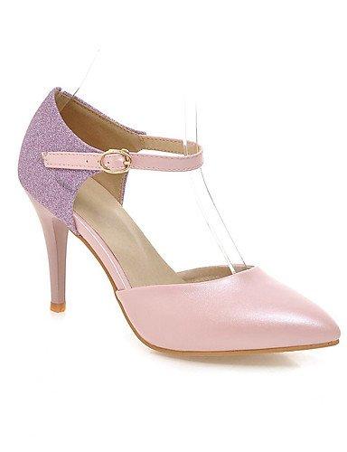 WSS 2016 Chaussures Femme-Habillé / Décontracté / Soirée & Evénement-Bleu / Rose / Blanc-Talon Aiguille-Talons / Bout Pointu / Bout Ouvert-Talons- pink-us6.5-7 / eu37 / uk4.5-5 / cn37