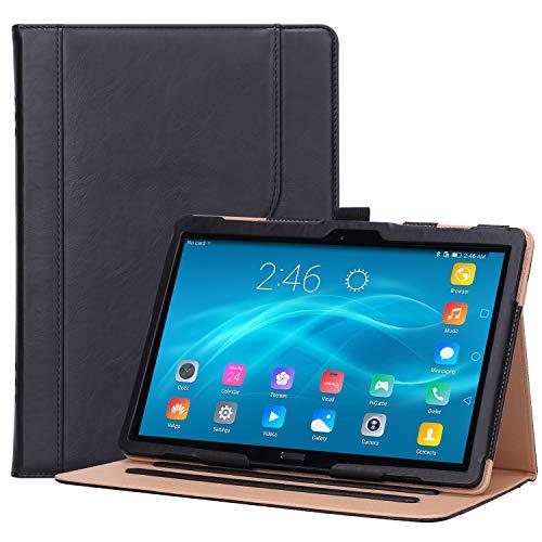 ProCase Lenovo Tab P10 10.1 Hülle 2018, Stand Klapphülle Case für Lenovo Tab P10 TB-X705F TB-X705L 10.1 Zoll Tablet, mit Mehre Blikwinkel Schutzhülle, Dokumentenkartenfach -Schwarz