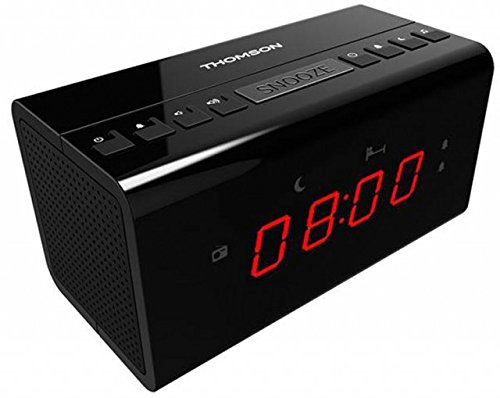 Thomson CR50 - Radio Reloj Despertador, Color Negro