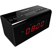 Thomson CR50 - Radio reloj despertador, color negro