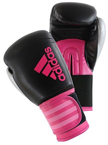 ADIDAS Hybrid 100Women Boxeo Mujer Schwarz/Pink 8 Oz