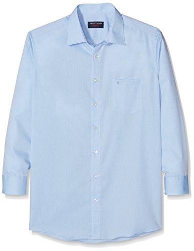 CASAMODA Herren Hemd 58er Ärmel 100% Baumwolle - Comfort Fit Blau (Blau 10)
