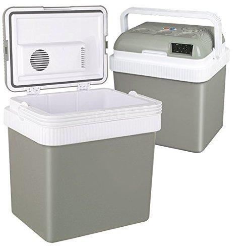 Preisvergleich Produktbild Jago Elektrische Kühlbox für Auto und Steckdose AC/DC, 23 Liter Inhalt ((L/B/H): ca. 40/30/44 cm) inkl. Warmhaltefunktion mit SGS GS