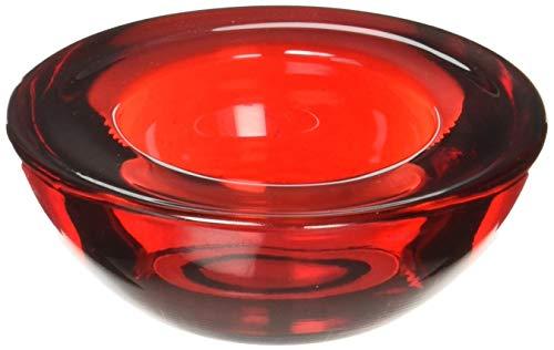 HOSLEY 's Set von 20Chunky Teelichthalter, Votiv Glas rot, 7,6cm Durchmesser. Ideales Geschenk, für Hochzeit, SPA, Aromatherapie, Party, Votivkerze Gärten