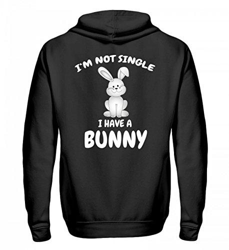 Hochwertiger Zip-Hoodie - I'm not Single, i have a Bunny Hase (Hoodie Bunny Zip)
