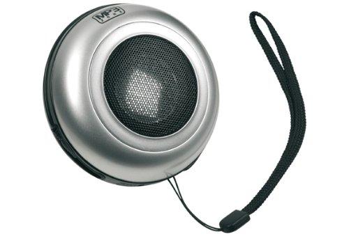 Cellular Line MP 3 SPEAKERSIL MP3 Lautsprecher mit Superbass, 3,5mm Klinkenanschluss, silber für iPod, iPhone, Blackberry Ipod Iphone Blackberry