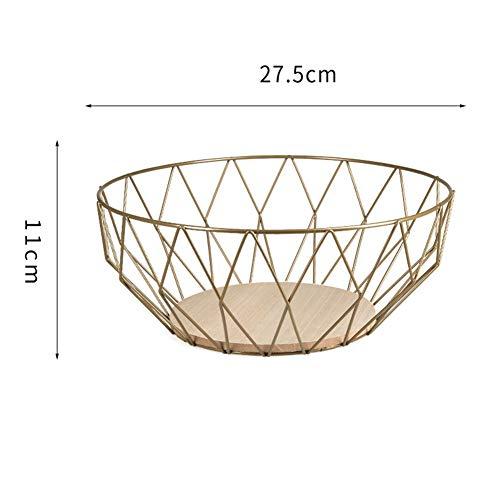 MFHYSJ Schmiedeeisen Obstkorb Aufbewahrungsschüssel Wohnzimmer Lagerung Trockenfrüchte RackBronze - Bronze-wohnzimmer