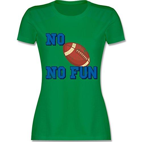 Sonstige Sportarten - No Football no Fun Vintage - tailliertes Premium T-Shirt mit Rundhalsausschnitt für Damen Grün