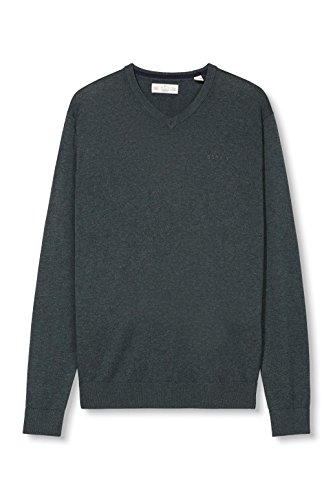 Esprit Basic-Regular Fit, Pull Homme Vert (DARK GREEN 300)