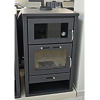 Estufa de leña para estufa de estufa de horno con caldera integral para estufa de fuego