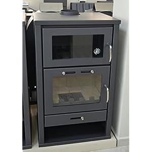 Estufa de leña para chimenea de leña, para calefacción central, quemador de leña de combustible sólido, 14/21 kW