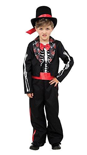 5Day Of The Dead Jungen, Alter 5–7Jahre Medium (Zucker Schädel Mädchen Halloween-kostüm)