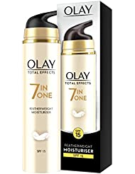 Olay Total Effects Anti-Ageing 7-in-1 Featherweight Day Lightweight Moisturiser with SPF15, Fights the 7 Signs of Ageing,  50 ml