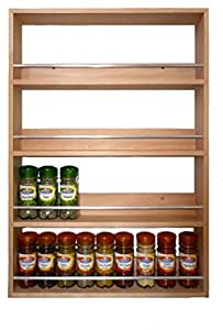 Solid Beech Spice Rack 4 Tiers Up To 36 Jars Capacity by SilverAppleWood
