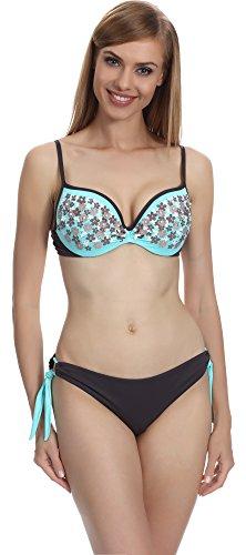 Merry Style Damen Bikini Set F-30/H (Türkis (021), Cup 80 D / Unterteil 40)