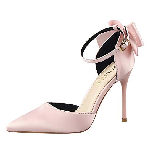 Zapatos de Tacón de Aguja Puntiagudo Punta Cerrada Diseño Elegante Modo para Fiesta y Boda para Mujer...
