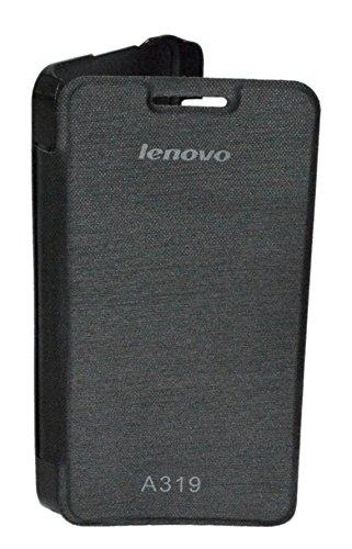 TOTTA Hard Back Flip Cover for Lenovo Rocstar A319 - Black