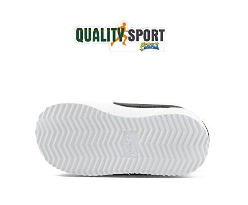 Nike Cortez Basic Sl (Tdv), Chaussures de Trail Mixte Enfant, Blanc (White / Black 102), 26 EU