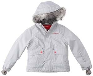 O'Neill Girl's Gemstone Snow Jacket   -  Vaporous White, Size 164