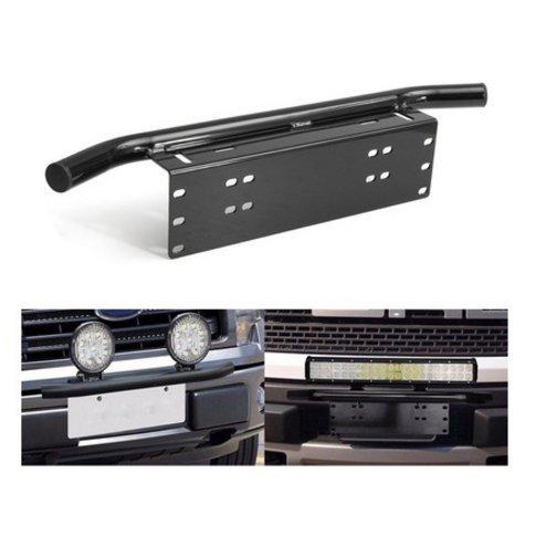 caxmtu Autos vorne schwarz Bumper Nummernschild Halterung Licht für Fahren Light Bar LKW SUV