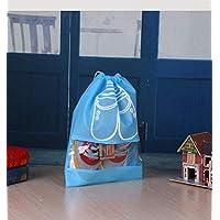 10pcs/Set Waterproof Cloth Travel Shoes Storage Bag Drawstring Organizer PVC transparent splicing home Shose Cloth storage bags qy