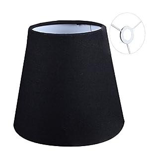 Eastlion 9 * 14 * 13cm Flachs Kerze Kronleuchter Lampenschirm Wand Lampe  Pendelleuchte Schirm, Schwarz