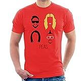 Photo de Black Eyed Peas Music Icon Silhouette Men's T-Shirt par Cloud City 7