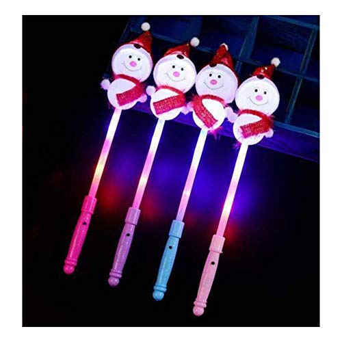 Black Temptation LED Light Up Zauberstab Fairy Snowman Glow Sticks für Kinder Spielzeug (4 Stück)