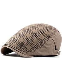 Gisdanchz Uomo Vintage Cappello Maglia. Cotone Berretto Scozzese da Caccia  Lavoro per Invernali Primavera 4a3a66e82819