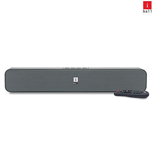 iBall Musi Bar High Power Compact Soundbar with Multiple Playback Options, Grey